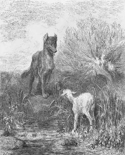 La Fontaine le loup et l'agneau