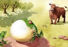 La grenouille qui veut se faire aussi grosse que le boeuf