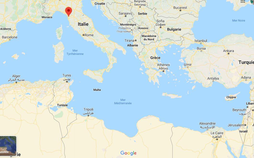Carte Pise - Algérie - Egypte